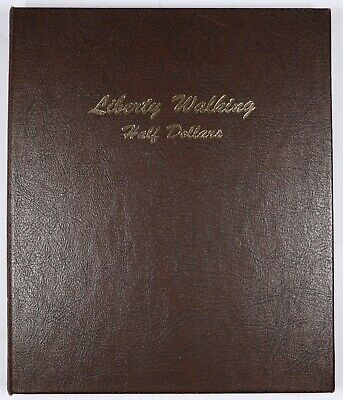 1916-1947 P/D/S Walking Liberty Half Dollar Set Dansco Album 65 Coins 50C