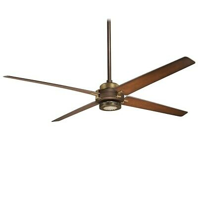 Minka Aire Spectre Ceiling Fan, Bronze with Antique Brass - F726-ORB/AB