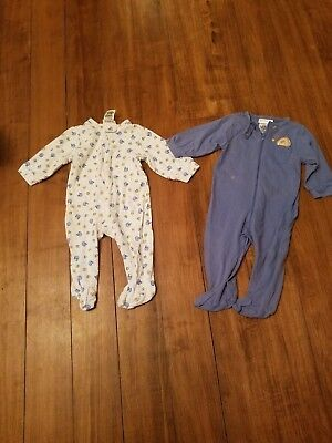 Boys sports sleepers pajamas size 6 months.  lot of 2 GUC