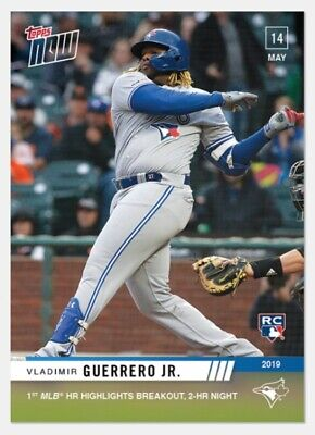 Vladimir Guerrero Jr. RC 2019 Topps NOW 1st 2 Career HR's Breakout Card #229
