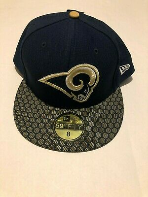 new concept 6d4b7 649e5 New Era 59Fifty Hat Los Angeles Rams NFL 2017 On Field Sideline Fitted 8