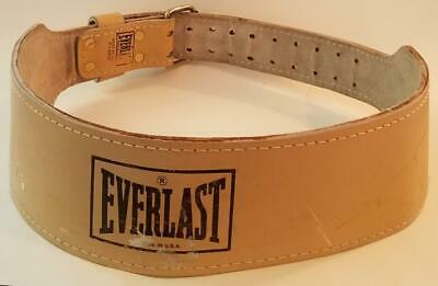 "REX 303 6/"" Weight Lifting Belt Leather no padding Small Size  Old School Vintage"