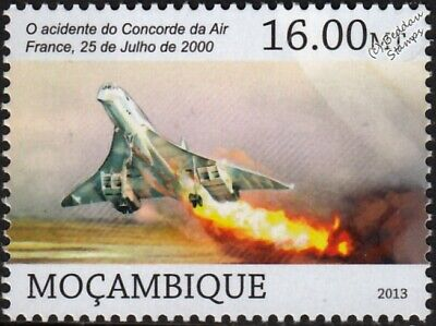 2000 Air France Flight 4590 CONCORDE Charter Aircraft Stamp (2013)