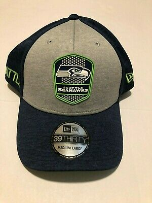 09933cba New Era 2018 39Thirty NFL Seattle Seahawks Sideline Road Flex Hat Cap M/L