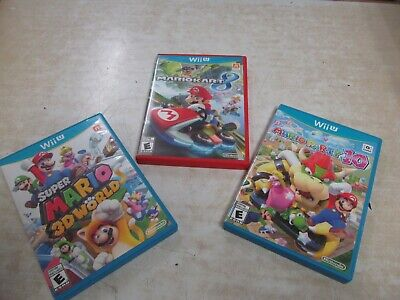 Lot of Nintendo Wii U Games, Mario Party 10, Mario Kart 8, Super Mario 3D World