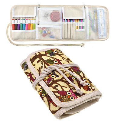Portable Organizer Zipper Bag Case for Knitting Needles Crochet Hook Storage Bag