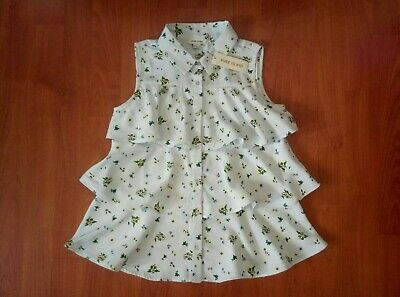 Girls RIVER ISLAND Flower Pattern, Frilly Shirt/Blouse Age 9-10 Years BNWT!