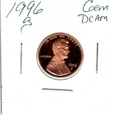 1996-s LINCOLN MEMORIAL CENT A GREAT GEM DEEP CAMEO..MIGHT SELL 1ST BID #C1327