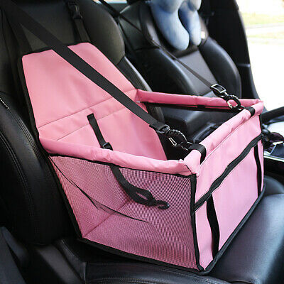 Dog Booster Car Seat Carrier Portable Carrier w/ Safety Belt For Pet Up to 15lbs