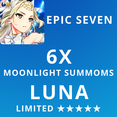 Epic 7 Seven Global Luna Lottery Account 6X Moonlight Summons Name Change