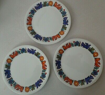 """Lot 3 Villeroy & Boch ACAPULCO Lunch Plates 8""""  EXC CONDITION  Brown Stamp"""