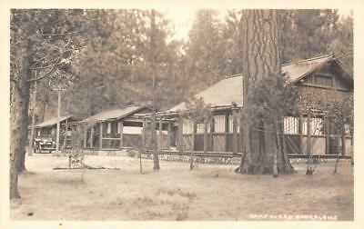 RPPC CAMP CURRY Yosemite National Park Bungalows, California ca 1930s Postcard