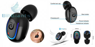 7a429ad957f Bluetooth Headphone, Kissral Wireless Sport Earbud 8 Hours Talking Time HD.