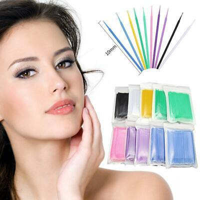 100* Disposable Micro Brush Swab Applicators Eyelash Extension Mascara Wand Tool