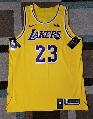 9db4578fe96 Lakers Lebron James Size 52+2 XL Nike Authentic pro Cut Jersey Wish logo NWT