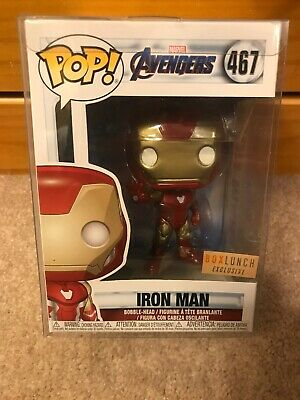 Funko Pop! Marvel Avengers ENDGAME #467 Iron Man BoxLunch Exclusive W/ Protector