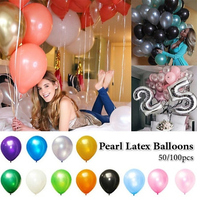 50/100pcs Colorful Pearl Latex Balloons Birthday Wedding Party Decoration Ballon