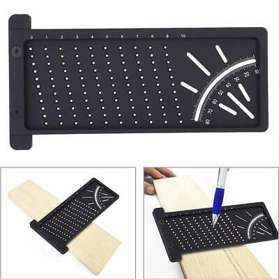 3D Mitre Angle Measuring Ruler Square Size Wood Measure Tool Gauge Woodworking