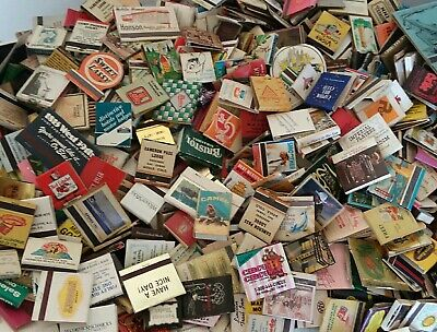 Vintage Matchbook Collection Huge Lot of (500) 1930's-1990's