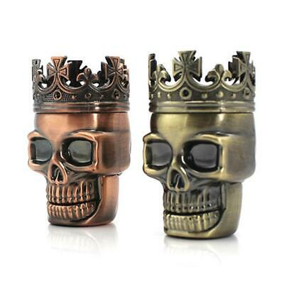 Tobacco Herb Spice Grinder King Skeleton Skull Crusher Brass Punk Creative Tool