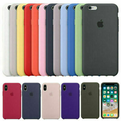 Genuina Original Silicona Funda carcasa para Apple iPhone X XR XS 8 7 6 S Plus