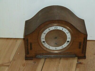 Westminster Chime oak clock case with hinged glazed bezel