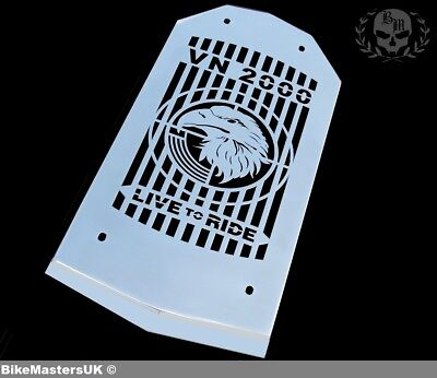 Kawasaki Vn 2000 Vulcan - Eagle - Stainless Steel Radiator Cover Grill Guard