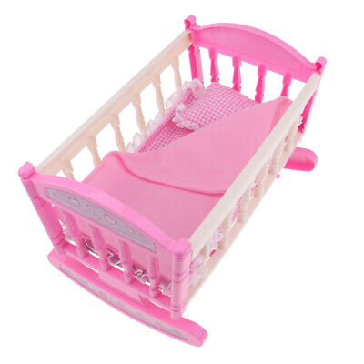 """Reborn Baby Girl Doll Bed Realistic Baby Doll Crib For 9-11"""" Reborn baby"""