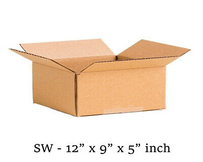 """Brown - CardBoard Boxes - Single Wall - 12"""" x 9"""" x 5"""" inch Size - Cheapest"""