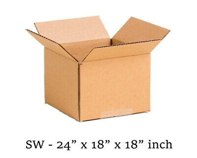 """Brown - CardBoard Boxes - Single Wall - 24"""" x 18"""" x 18"""" inch Size - Cheapest"""