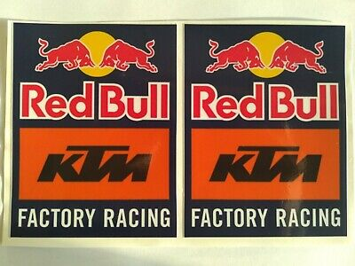 KTM Red Bull Factory Racing Stickers For Moto Motorbike x2