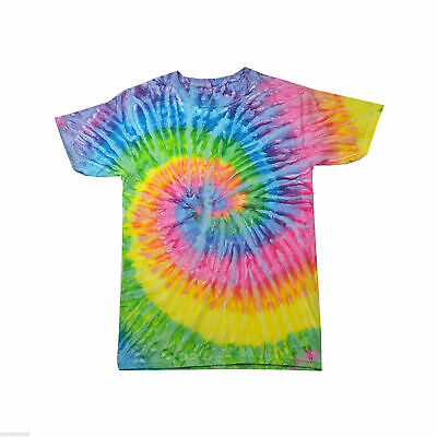 Unisex Adults 100% Cotton Tie Dye T-Shirt Apparel Casual Tee Size S-2XL