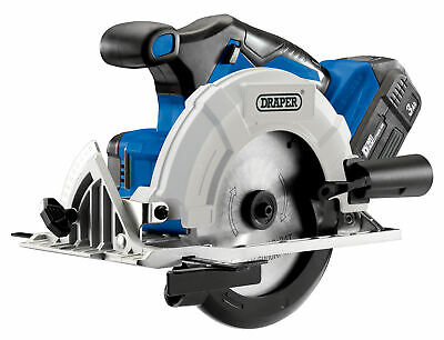 D20 20V Brushless Circular Saw With 3Ah Battery And Fast Charger Draper 00594