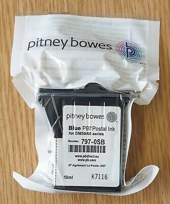 Genuine/original Pitney Bowes Blue Postal Ink for DM50/60 series