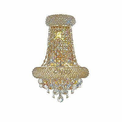 Alexandra Wall Lamp Large 3 Light French Gold/Crystal