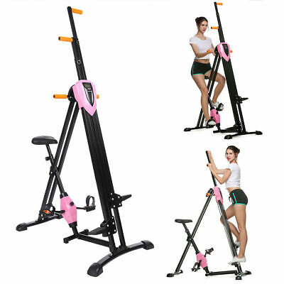 Maxi Climber Vertical Stepper Exercise Fitness with Monitor Manual Sealed Gym@