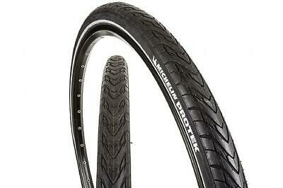 "Michelin Protek 26"" X 1.85 47-559 MTB Hybrid Bike Tyre Reflective Wall Black"