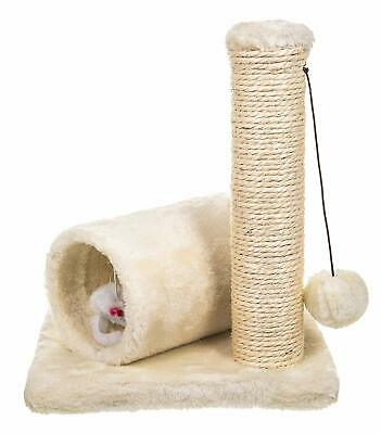 FiNeWaY Small Cat Kitten Sisal Scratch Post Toy With Tunnel & Play Mouse Pet Act