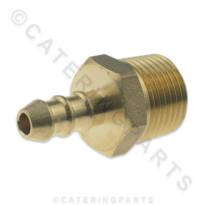 """1/2"""" Male Nozzle / Nipple Screw In Pipe Fitting For 8Mm X 10Mm Lpg Gas Hoses"""