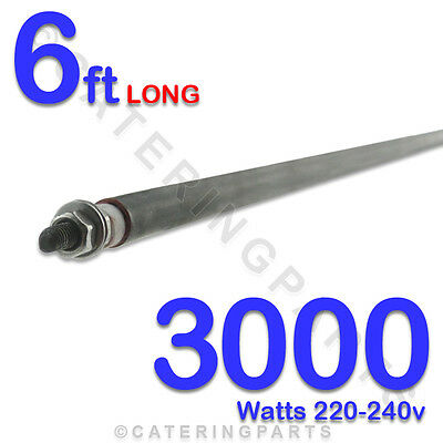 "HE7230 72"" / 6ft LONG 3000 watt 3kw DRY / WET ROD HEATING ELEMENTS UNIVERSAL"