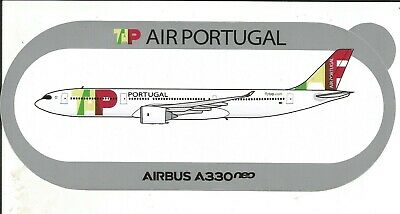 STICKER AUTOCOLLANT AIRBUS A330neo TAP AIR PORTUGAL 2nd modèle  - Neuf