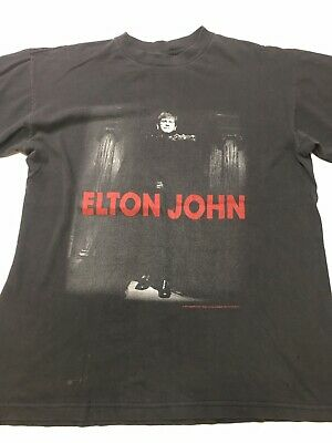 ff227056 Vintage 1997 Elton John The Big Picture Tour T Shirt Men's Large VTG  Rocketman