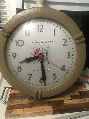 Wall Clock - Crouse-Hinds Hazardous Explosion-Proof Vintage Military Working
