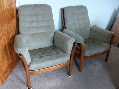 Ercol Saville 3 seater sofa and 2 Ercol Saville Easy Chairs