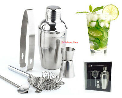 ✔ Kit Barman Set Regalo 6 Pezzi Boston Shaker Bar Drink Cocktail Pub Accessori