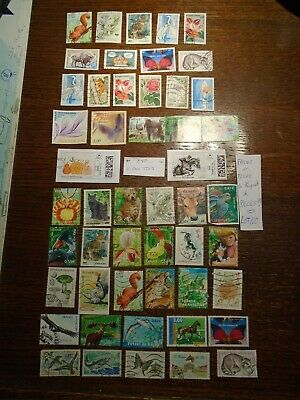 LOT de timbres FRANCE (FAUNE et FLORE + 2 VIGNETTES )Tous /DIFFERENTS