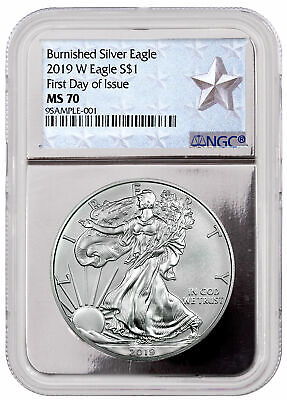 2019 W 1 oz Burnished Silver Eagle NGC MS70 FDI Silver Core Star SKU55859