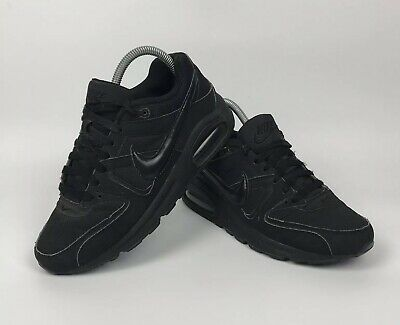 f7ad1c9160 Boys Nike Air Max Command GS Trainers 5.5 UK Triple Black Shoes Classic  Style
