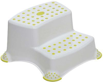 Safety 1st DOUBLE STEP STOOL Two Level Height Very Stable Anti Slip White BN