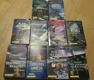 10 LOVE INSPIRED SUSPENSE BOOKS - paperback books - all different titles - #1